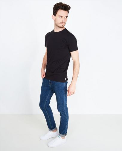 Wit basic T-shirt, slim fit